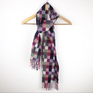 D&Y Softer Than Cashmere Fringed Plaid Scarf